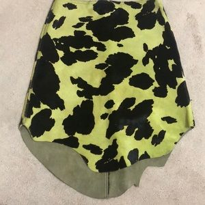 Cow green skirt